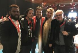 VSeth, Rodjo, Yuliana et James Moor entourent Christian Constantin. DR