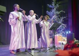 Le Gospel Team de Moudon a animé la soirée. ©Michel Duvoisin