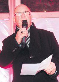 Le vice-syndic Marc-André Burkhard a prononcé un bref discours, afin de souhaiter la bonne année à tous. ©Michel Duperrex