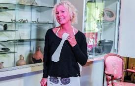 La conteuse-écrivain Anne Martin était présente au Musée d'Orbe. ©Pierre Blanchard