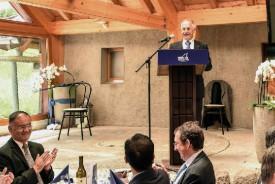 Pierre-Alain Rithner, directeur général, a présenté la société à ses invités. © Pierre Blanchard