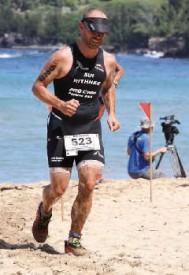 Le Xterra de Maui, c'est 1,5 km de natation, 32 km de VTT et 10,5 km de cross sous le cagnard. Jessica Nzamba et Yann Rithner (photo) peuvent en témoigner. DR