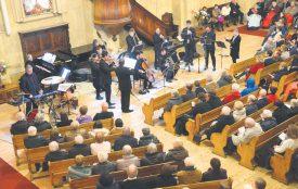 Le traditionnel concert de la Saint-Sylvestre de l'ensemble Tiffany a rempli le temple. La virtuosité sans égale des quinze musiciens a permis aux Yverdonnois d'entrer, en douceur et en musique, dans la nouvelle année. ©Michel Duperrex