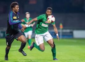 Ange Nsilu a enfin retrouvé le chemin du but, inscrivant le 2-1 pour Yverdon Sport à la 87e. © Champi