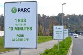 L'ouverture du parking relais d'Y-Parc s'accompagne de plusieurs mesures, dont, dès le mois de mars, la mise en place d'une cadence à dix minutes des bus. © Duperrex -a