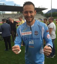 Le dernier rempart nord-vaudois, Mirko Salvi, a pris une part prépondérante dans le succès de l'opération maintien du néo-promu luganais. © FC Lugano