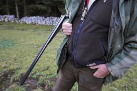 L'arme du chasseur: un fusil calibre 32, doté d'une crosse anglaise. © Bobby C. Alkabes