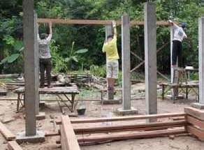 La construction d'une maison au Cambodge, étape par étape. © Lionel Imhof