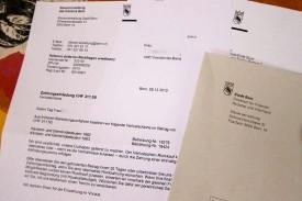 Le commandement de payer qui est parvenu dans la boîte à lettres de Chantal et où l'Administration cantonale bernoise des impôts, appliquant une loi de 1997, lui réclame 311,50 francs.