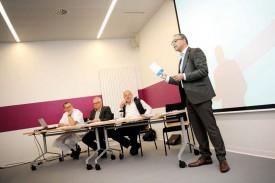 Le directeur général des EHNV, Jean-François Cardis, lors de la présentation du plan stratégique. © Nadine Jacquet