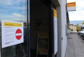 Les guichets étaient fermés, hier en fin d'après-midi. © Muriel Aubert