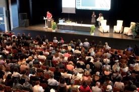 Le Symposium a rassemblé 400 participants à La Marive. Des demandes d'inscription ont d゙être refusées, pour ne pas dépasser la capacité de la salle. ©Ludovic Pillionel