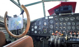 Une vue du cockpit. L'appareil dispose d'une avionique aux normes actuelles. ©Carole Alkabes