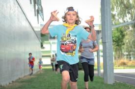 Le jeune Eliott Roulet en pleine course. ©Carole Alkabes