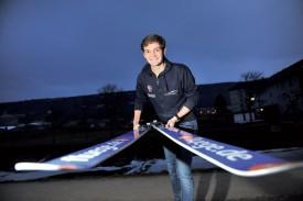 Sébastien Cala espère que la base de la pyramide du saut à skis romand puisse s'élargir. ©Michel Duperrex