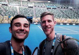 Fabrice Sbarro se sent bien sur les courts de l'Open d'Australie. ©DR