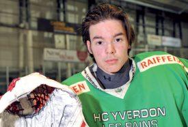 Dylan Berutto se dit confiant avant l'acte III de la finale de playoffs face au HC Delémont-Vallée. ©Michel Duperrex