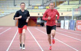 A la Pontaise, Grégory Wyss (à g.) et Sullivan Brunet courent à nouveau côte à côte. ©Michel Duperrex