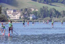 Les participants aux épreuves de 6 et 10 km du dimanche se sont frottés au passage technique de la bouée, au Pont. ©Pierre Blanchard