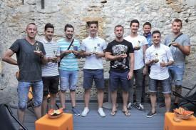 Briscars 2016 (de g. À dr.): Jean-Marie Cornu (président de Chavornay), Steven Lima (ex-Montcherand), Daniel Katanic (entraîneur de Chavornay II), Aleksandar Ristic (Chavornay), Jasmin Omanovic (entraîneur Azzurri Yverdon), Fatmir Skrijelj (Bosna Yverdon), Olivier Gaillard (Suchy), Renato Provenzano (Grandson) et Daniel Ondrejicka (Grandson). Manquent à l'appel : Philippe Badoux (entraîneur Sainte- Croix), Abraham Keita (ex-entraîneur Donneloye), Christian Leuenberger (entraîneur Donneloye). ©Michel Duperrex