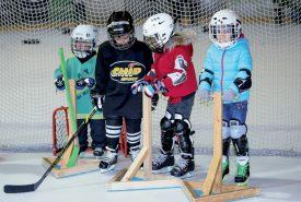 Venus pour la plupart de la région, les jeunes hockeyeurs qui se sont rendus à Yverdon-les-Bains ont été encadrés par plusieurs joueurs professionnels de Ligue nationale A. ©Champi