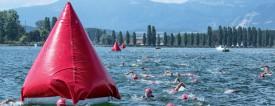 Les nageurs s'en sont donné à coeur joie dans les eaux particulièrement clémentes du Lac de Neuchâtel, hier, à la Plage d'Yverdon-Les-Bains. ©Champi