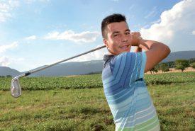 Nicolas Becholey a connu une bonne phase durant la fin de l'été, qui lui a permis de se hisser parmi les meilleurs jeunes golfeurs romands. ©Duperrex-a