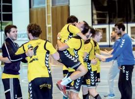 Remporter le derby contre la West est toujours une source de grand bonheur pour les Yverdonnois. ©Champi