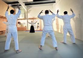 Le local a été totalement réaménagé et décoré, afin d'accueillir les amateurs d'aïkido aux Champs-Lovats. ©Michel Duperrex