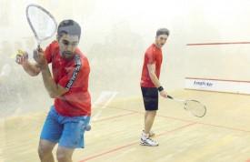 Tarek Shehata (à gauche) s'est facilement imposé en finale, face au joueur de Payerne Jérôme Tobler. ©Michel Duvoisin