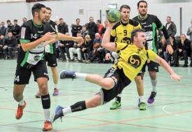 Killian Hirsbrunner (trois points) et Clément Loichot (quatre points) ont réalisé un match plein, samedi. ©Carole Alkabes