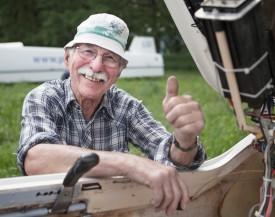 Eric Santschy, du Groupe de vol à voile de Montricher: pilote émérite depuis plus de 44 ans. © Simon Gabioud