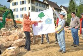 La construction de la coopérative a été officiellement lancée jeudi. © Carole Alkabes