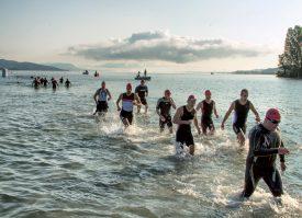 Sortie de l'eau pour les concurrents qui se sont élancés hier matin. ©Champi