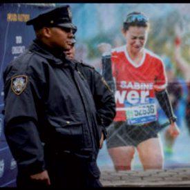 Sur les bornes des «city bikes», dans la rue, sur les écrans géants, devant la police: Sabine Zucca était vraiment partout!