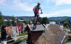 Jérôme Chapuis s'est montré très à l'aise sur les obstacles norvégiens.