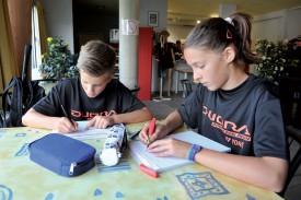 Nicolas Franconville et Cloé Brand font leurs devoirs : les journées sont chargées ! ©Michel Duperrex