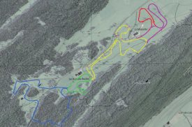Le tracé des pistes du secteur des Grandes-Roches tel qu'il est prévu. ©Michel Duperrex
