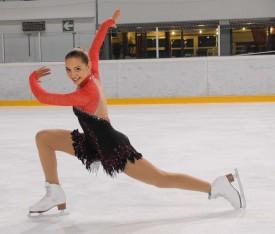 Laure Nicodet (ici à Yverdon) n'a rien perdu de sa grâce, et encore moins de sa motivation à se dépasser en compétition.
