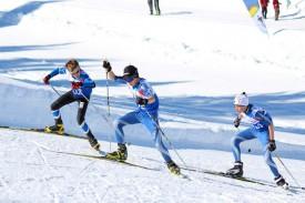 Les jeunes Combiers Julien Schüpbach, au premier plan, et Romain Golay, à droite, ont réalisé le doublé sur 7 kilomètres.