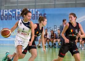 La jeune Tapa-Sabllia Tiffanie Zali a fait montre de tout son talent avec Elfic Fribourg, ici lors de la demi-finale contre Hope Genève.