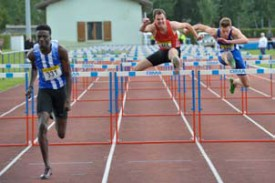 Alain-Hervé Mfomkpa (Lausanne- Sports) va chercher le titre du 110 m haies.