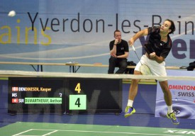 Lors du tournoi international d'Yverdon, en 2013