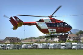 Un hélicoptère de la REGA a dû intervenir samedi après-midi.