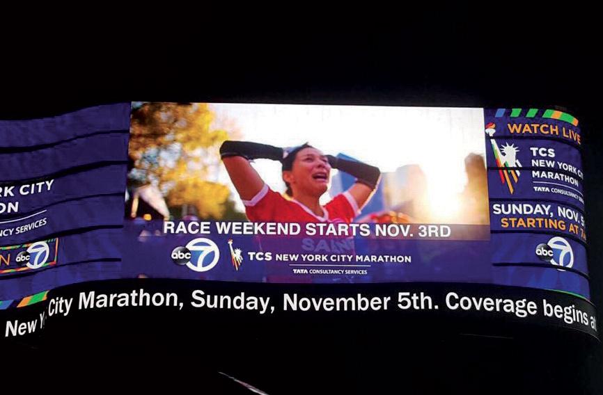 La Concisoise devenue égérie du Marathon de New York
