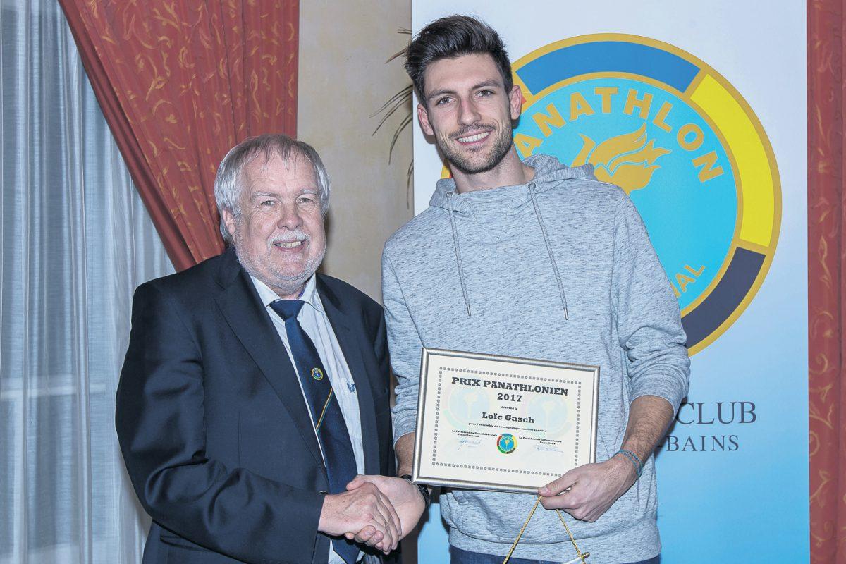 Loïc Gasch place la barre haut en recevant le Prix Panathlonien
