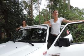 Julia Hombrados et Alexandra Papadopoulos sont prêtes pour le rallye raid.