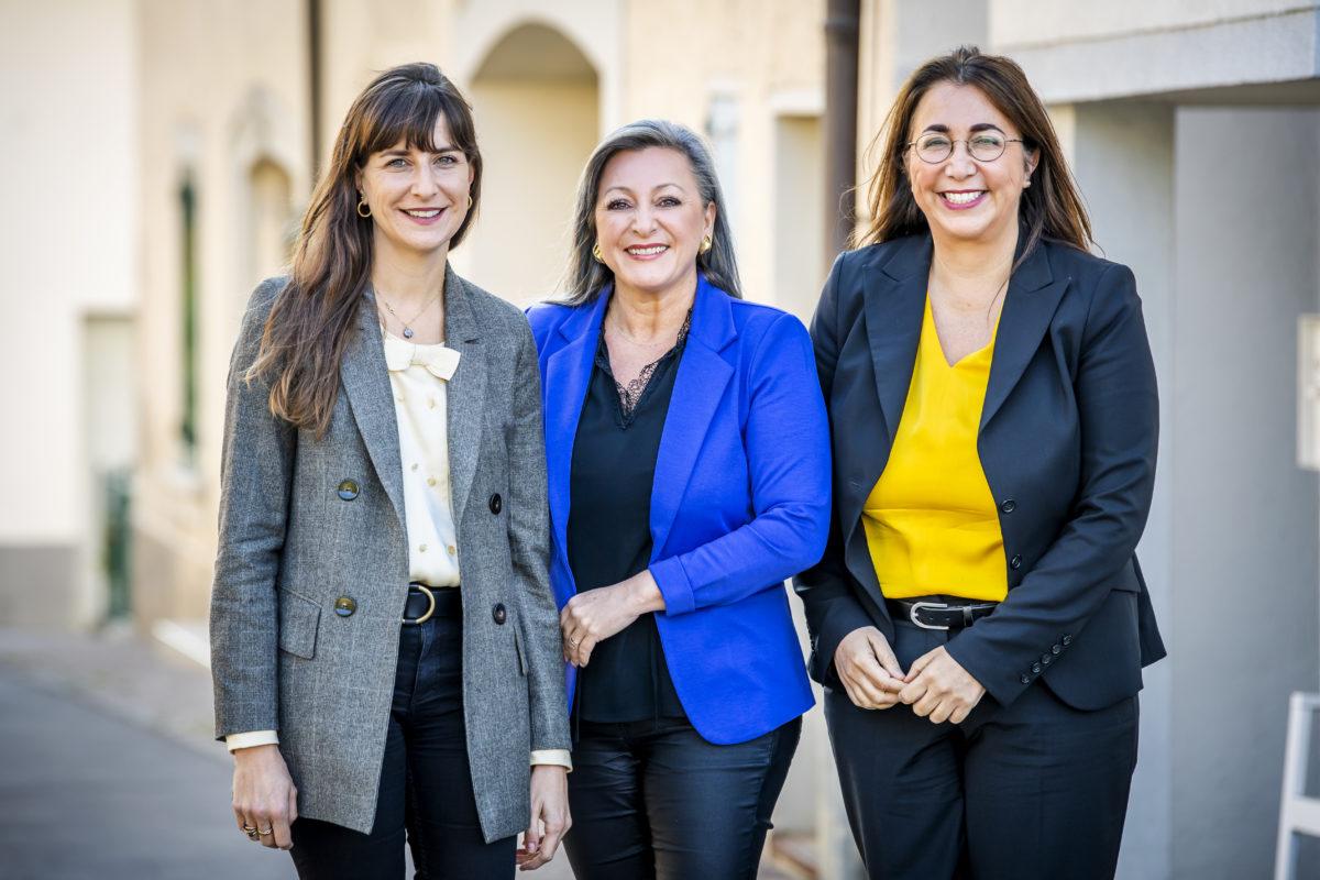 Rebecca Ruiz, Nuria Gorrite et Cesla Amarelle se représentent