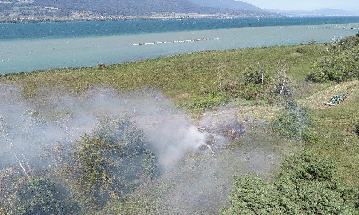 Les pompiers évitent le pire à la Grande Cariçaie