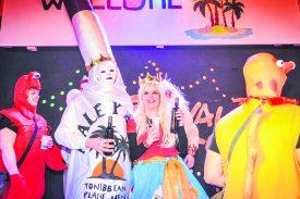 Anthony Joseph et Marine Chambaz ont été couronnés roi et reine de la fête. © Carole Alkabes